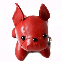 lovely leather dog keychain