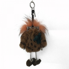 New Robot Pendant Robot Rabbit Fur Witch Women Bag