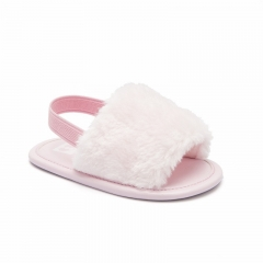 Faux fur baby shoes fur baby slippers for summer fur baby sandals
