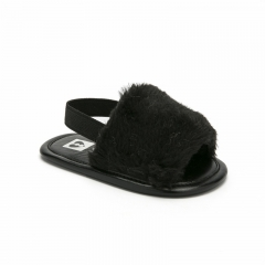 Fashion Faux Fur Baby Shoes Summer Cute Infant Baby soft boys girls shoes