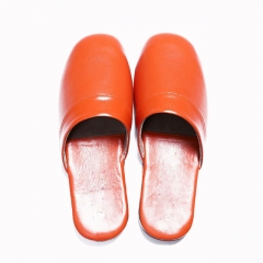Top Quality Genuine Leather Women Slipper Real Leather Sandals For Lady