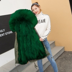 2019 Fashion Design Woman Jacket Fur Parka / Real Fur Parka / Fox Fur Parka