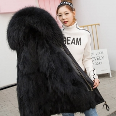 Factory Wholesale  Latest Design Women Raccoon Fur Lined Parka plus size