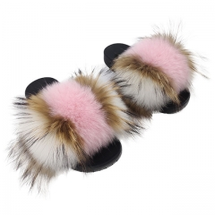 New fashion women slides fur fuzzy slippers with high quality