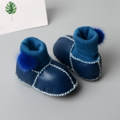 Wholesale Genuine Soft Boots Red Bottom Baby Shoes Leather Girls Shoes