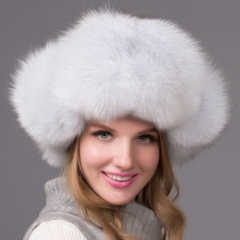Russia Female Style Winter Warm Hats Real Raccoon Fur Hat