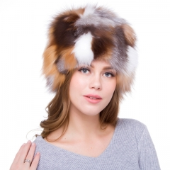 Top Quality Colorful Woman Real Fox Fur Hats