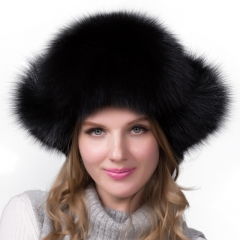 Fashion Real Fur Hat Snow Hat Winter Hat with Earflap
