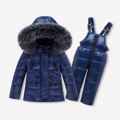 Factory Price New Fashion Winter Kids Fox Fur Down Coat