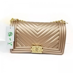 Luxury Jelly Purse With Golden Color For Ladies