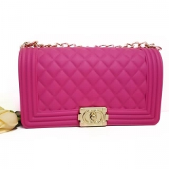 wholesale Jelly Purse With Hot Pink Color