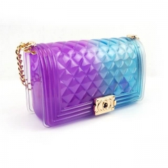Transparent Jelly Purse Diamond Style Handbag