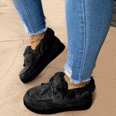 Best vendor wholesale  Snug Shoes Casual Boots Breathable Soft Women Chunky Snow Bailey Suede Boots