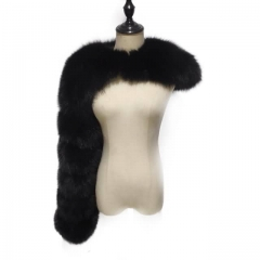 The Single Shoulder Fox Fur Sleeve